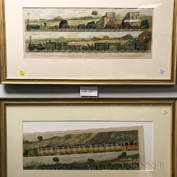 Two Framed Raphael Tuck & Sons Railway Lithographs