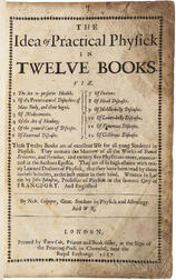 Jonstonus, Joannes (1603-1675) The Idea of Practical Physick in Twelve Books.
