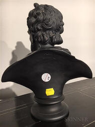 Wedgwood Black Basalt Bust of Plato