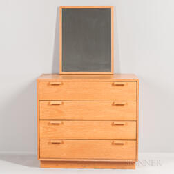 Charles Webb Oak Dresser and Mirror