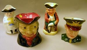 Four Ceramic Character/Toby Jugs