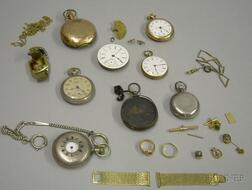 Group of Assorted Watches, Watch Parts, and Accessories