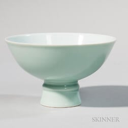 """Wintergreen""-glazed Stemmed Bowl"