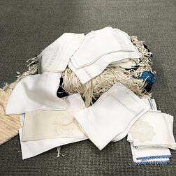 Group of Lace and Table Linens.     Estimate $20-200