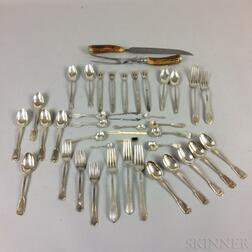 Group of Sterling Silver and Silver-plate Flatware