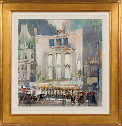 Architectural Watercolor Depicting the Dominion Theater, London