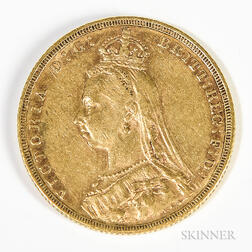 1890-M British Sovereign
