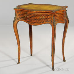 Louis XVI-style Parquetry-inlaid Writing Table
