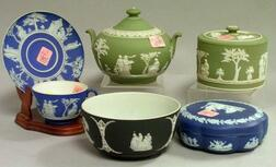 Six Wedgwood Jasper Dip Table Items