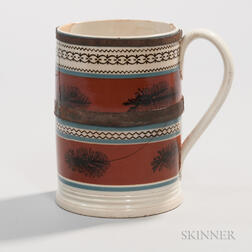 Quart Mocha Mug with Tinsmith's Made-do Repair