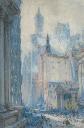 Colin Campbell Cooper (American, 1856-1937)      Broadway, New York