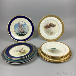 Eleven Mostly Lenox Bone China Plates