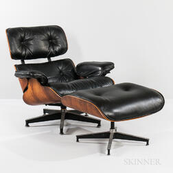 Ray and Charles Eames for Herman Miller Rosewood Lounge Chair and Ottoman