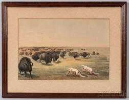 Framed Color Lithograph by George Catlin
