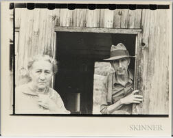 Walker Evans (American, 1903-1975)       Mining Camp Residents, Scott's Run, Morgantown, West Virginia