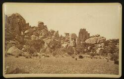 C.S. Fly (American, 1849-1901)  Imperial Cabinet Card Photograph of the Dragoon Mountains