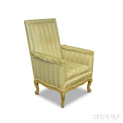French Provincial-style Upholstered Bergere