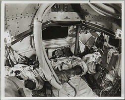 Apollo 8, Prime Crew, Centrifuge and Mission Simulator Training, 1968, Two Photographs.