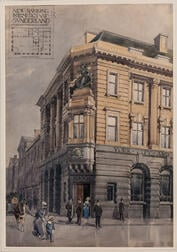 Office of Walter Henry Brierley (British, 1862-1926)      Architectural Rendering: New Banking Premises at Sunderland