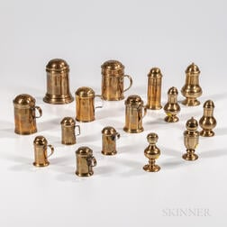 Ten Brass Muffineers and Five Brass Casters
