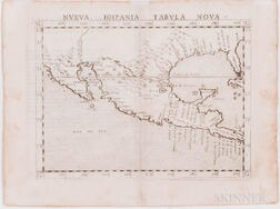 North, Central, and South America. Girolamo Ruscelli (1518-1566) Two Engraved Maps.