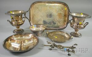Seven Silver-Plated Serving Items