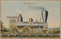 Two Richard Norris & Son Locomotive Lithographs