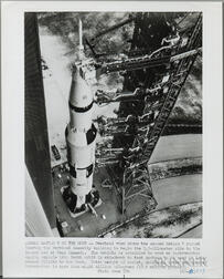 Apollo 8/Saturn V on Pad, Kennedy Space Center, Florida, December 1968, Three Photographs.