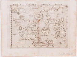 Southeast Asia and India. Girolamo Ruscelli (1518-1566) Two Engraved Maps.