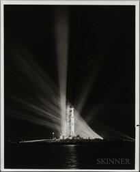 Apollo 8/Saturn V on Pad, Kennedy Space Center, Florida, December 20-21, 1968, Two Photographs.
