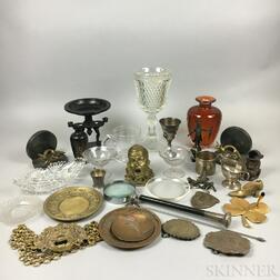 Group of Metal and Glass Decorative Items