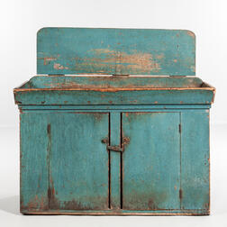 Blue-painted Dry Sink