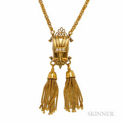 14kt Gold Victorian Revival Necklace