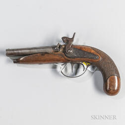 Double-barrel Percussion Pistol