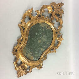 Rococo Carved and Painted Mirror