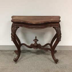 Rococo Revival Carved Walnut Console Table