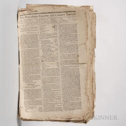 Providence Gazette  , 1794, Approximately Forty-five Issues.