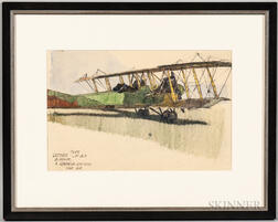 Two Framed WWI Aircraft Paintings
