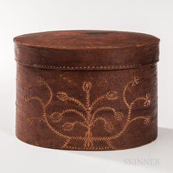 Oval Birch Bark Pantry Box