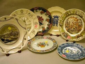 Five Assorted Wedgwood Decorated and Commemorative Plates, and Two English Decorated Plates.