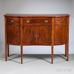 Inlaid Cherry and Mahogany Sideboard