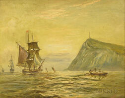 Continental School, 19th Century       Sailing Ships in a Harbor