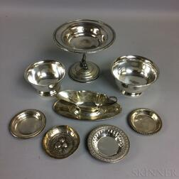 Nine Pieces of Silver Tableware