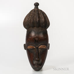 Baule-style Carved Wood Mask