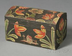 Small Paint-decorated Dome-top Box