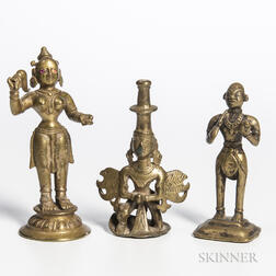 Three Gilt-bronze Figures of Deities