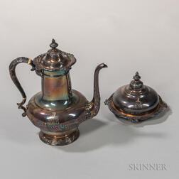 Two Pieces of Tiffany & Co. Silver-plated Tableware
