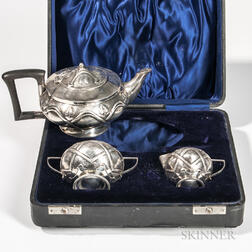 Three-piece Edward VII Sterling Silver Tea Service