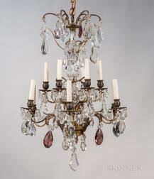 Diminutive Louis XV-style Twelve-light Chandelier