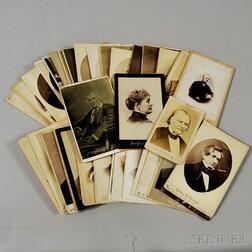 Group of Cabinet Cards Depicting Presidents, Vice Presidents, Massachusetts   Political Figures, and People of Interest